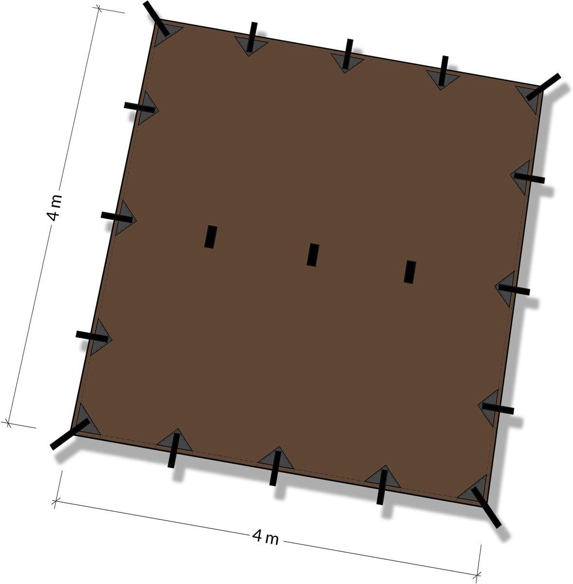 Coyote Brown DD Tarp 4x4 13ft x 13ft