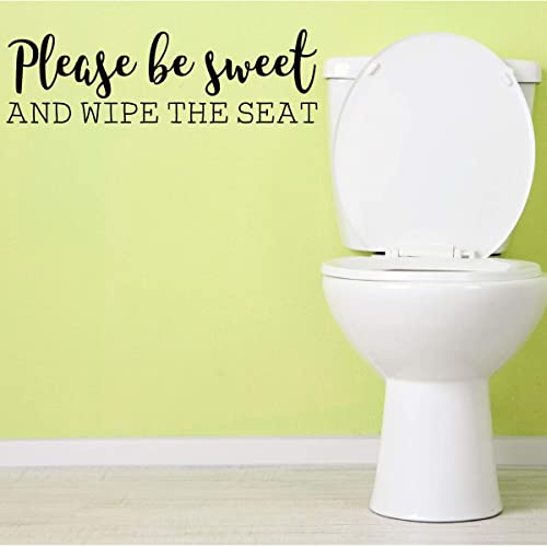 Amazon Com Funny Bathroom Decal Wipe The Seat Sticker For