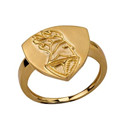 Senco Gold KKR Collection Gents Gold Plated Silver Ring 19 0