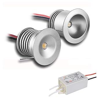 Paquete de 6 lámparas con mini bombillas LED, de KPSUN; 12V 1W, empotrables