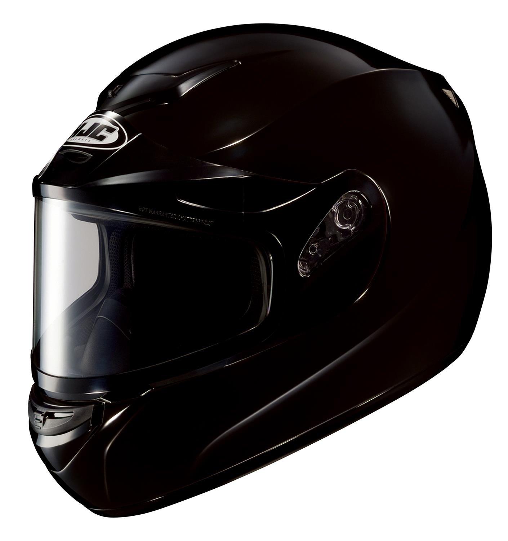 HJC CS-R2SN Solid Full Face Snow Helmet Framed Dual Lens Shield (Black, X-Small)
