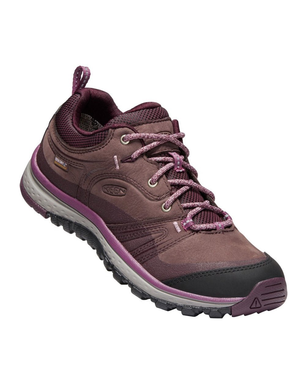 KEEN Women's Terradora Leather Waterproof Hiking Boot B077KHM2BK 10 B(M) US|Peppercorn/Wine Tasting