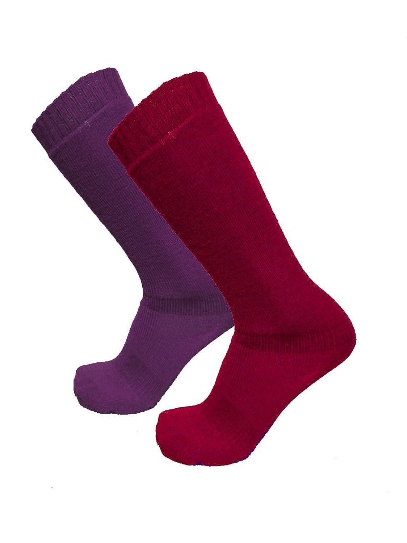ICEPEAK - TELMA Lange Damen Ski Socken - Doppelpack Violett/Pink