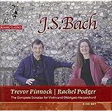 Bach: Complete Sonatas for Violin and Obbligato Harpsichord /Podger · Pinnock