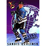Sandis Ozolinsh Hockey Card 1992-93 Ultra Import #19 Sandis Ozolinsh