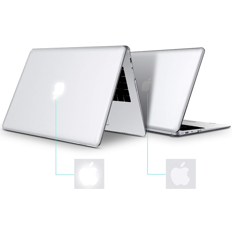 BELK Funda para MacBook Air 13 Pulgadas 2018 A1932, 3 en 1 Cubierta de plástico Duro, Transparente y Ultra cristalina con Cubierta de Teclado y Protector de ...