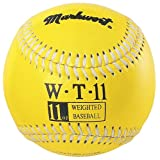 Markwort Weighted 9-Inch Baseballs-Leather Cover (Individually Boxed), Yellow