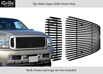 APS Compatible with 1999-2004 Ford F250 F350 Super Duty Excursion Billet Grille S18-A70756F