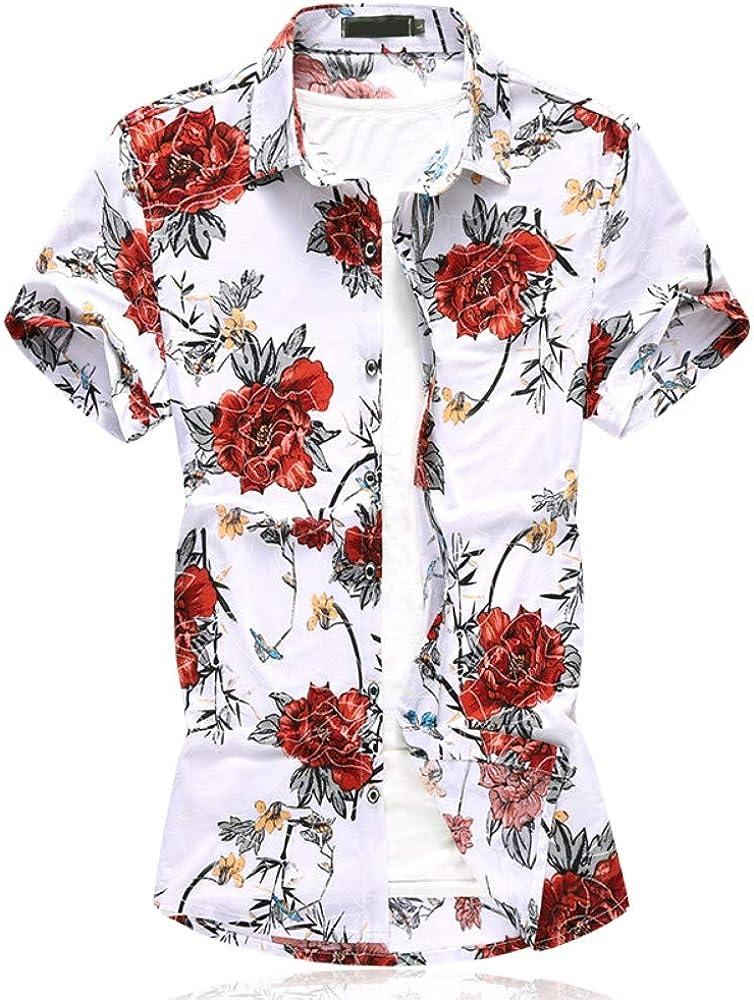 NANSHIZSCS Camisa de hombre Camisa De Los Hombres De Verano Slim Fit Manga Corta Moda Impresión Casual Flor Masculina Camisa Hawaiana Talla Grande, 5XL: Amazon.es: Ropa y accesorios
