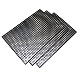 Buffalo Tools Heavy-Duty 24 in. x 36 in. Rubber Floor Mat in Black (3-Piece)