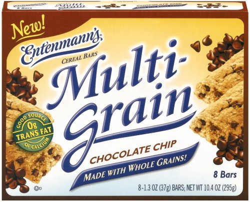 - Entenmann's Multi-grain Cereal Bars - Chewy Chocolate Chip, 10.4 Oz 12 (Multigrain Cereal Bars)