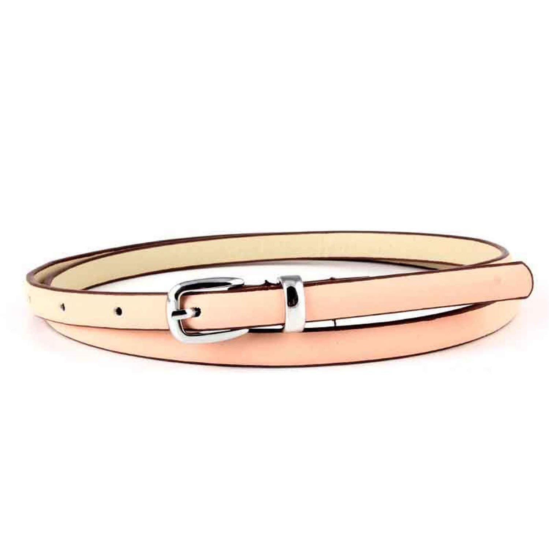Mistere Nice women black thin Leather belt for women jeans Belt female belts waist,103cm,Pink