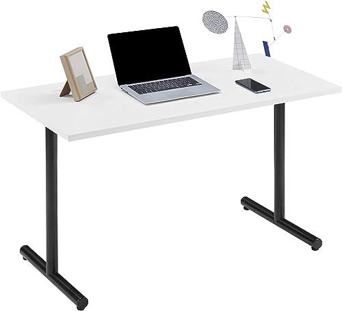 Sunon Computer Gaming Desk 48 x 24 Inch Melamine Rectangle Home Office Desk White