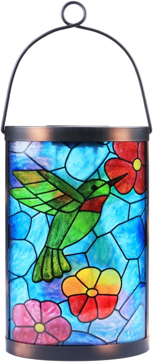 Hanging Solar Lantern Outdoor Decorative Waterproof LED Solar Hummingbird Lights Tabletop Lamp for Outdoor Patio Garden