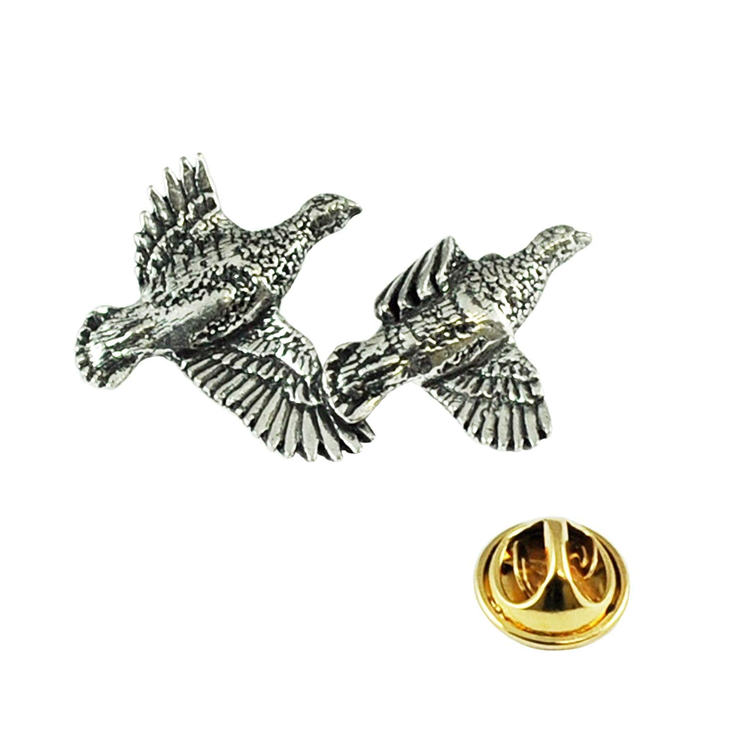 Golden Eagle Handcrafted From English Pewter Lapel Pin Badge Gift Bag