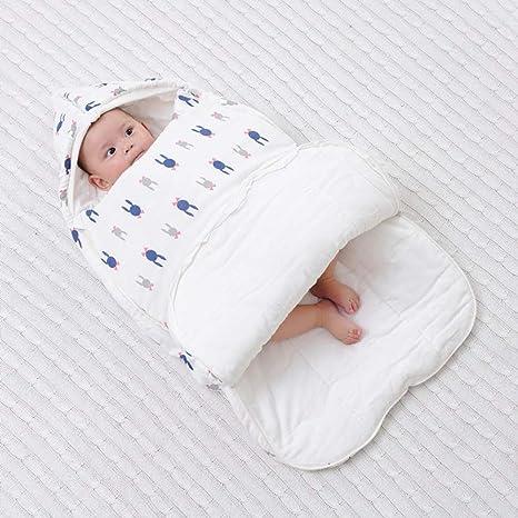 Saco De Dormir Para Bebé Suave Y Cómodo Unisex 0-6 Meses Abrazos Antichoque Para Proteger La Toalla Del Vientre Sección De Otoño Manta Manta Edredón Bebé Swaddle: Amazon.es: Bebé