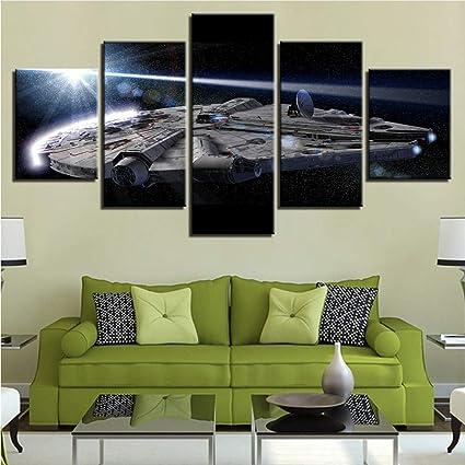 2ca82a2cb49 Amazon.com  Meaosy Canvas Poster Wall Art Home Decor 5 Pieces ...