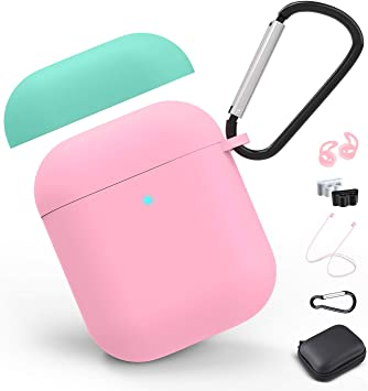 Amazon Com Airpods Case Cover With Keychain 2019 Airpod 2