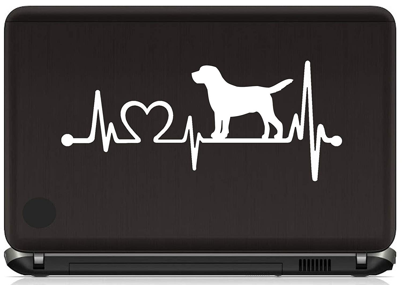 Lab Labrador Retriever Heartbeat Lifeline Decal Sticker for Car Window 8 Inch BG 426