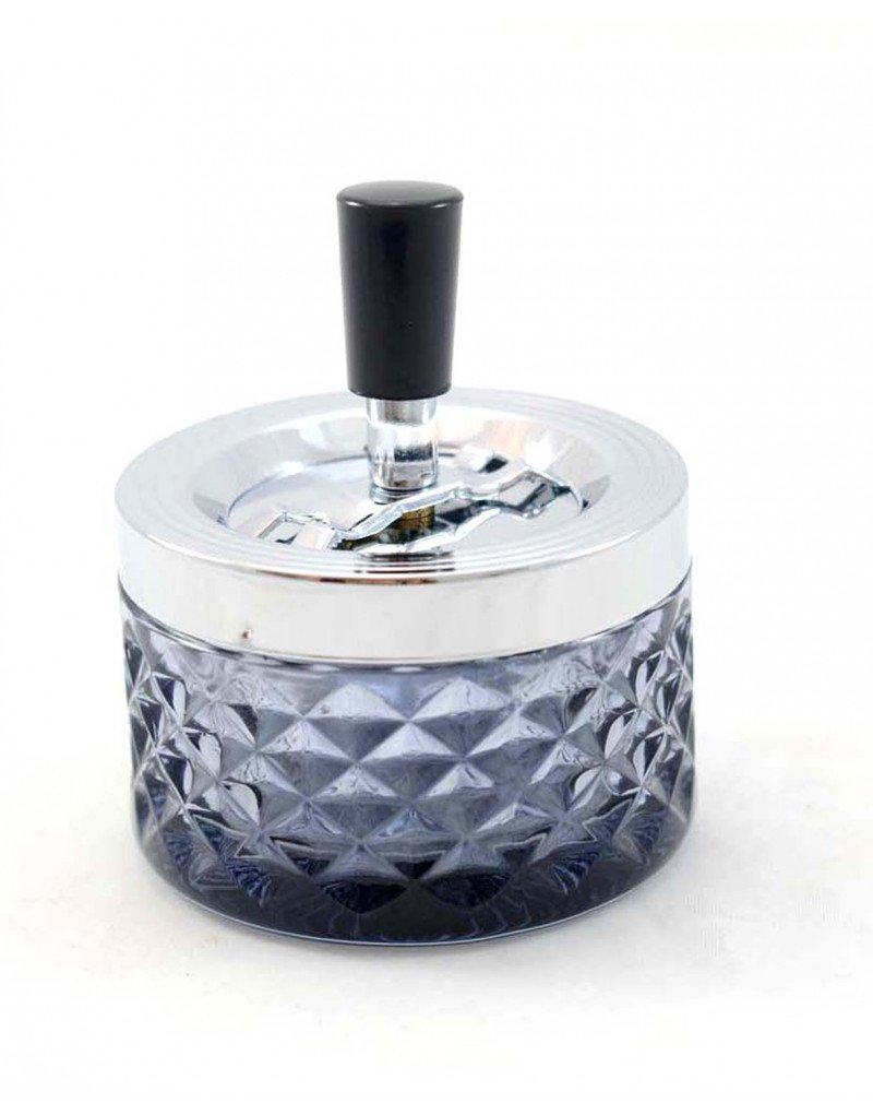 Klar Homeline Kristall-aschenbecher mit druckknopf 10 x 12