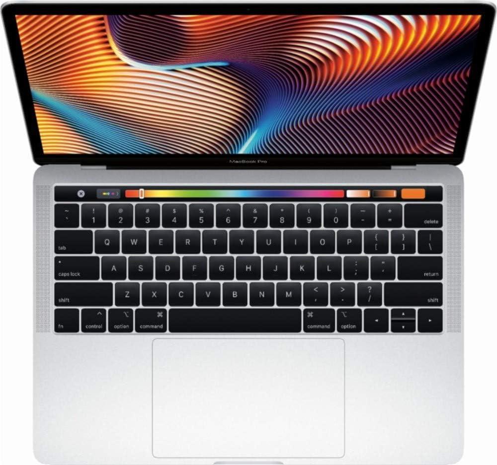 "Apple 13"" MacBook Pro, Retina, Touch Bar, 3.1GHz Intel Core i5 Dual Core, 8GB RAM, 256GB SSD, Silver, MPXX2LL/A (Renewed)"