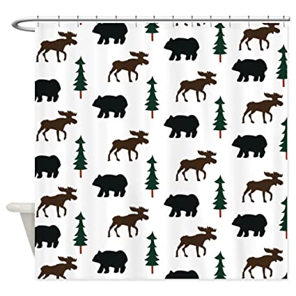 CafePress Rustic Bear And Moose Shower Curtain Decorative Fabric 69quot