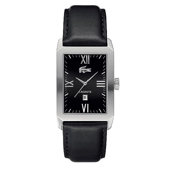 Lacoste LIVERPOOL 2010594 - Reloj para hombres, correa de cuero color negro
