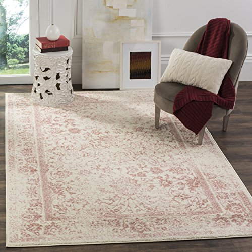 (Safavieh Adirondack Collection ADR109H Ivory and Rose Oriental Vintage Distressed Area Rug (8' x)