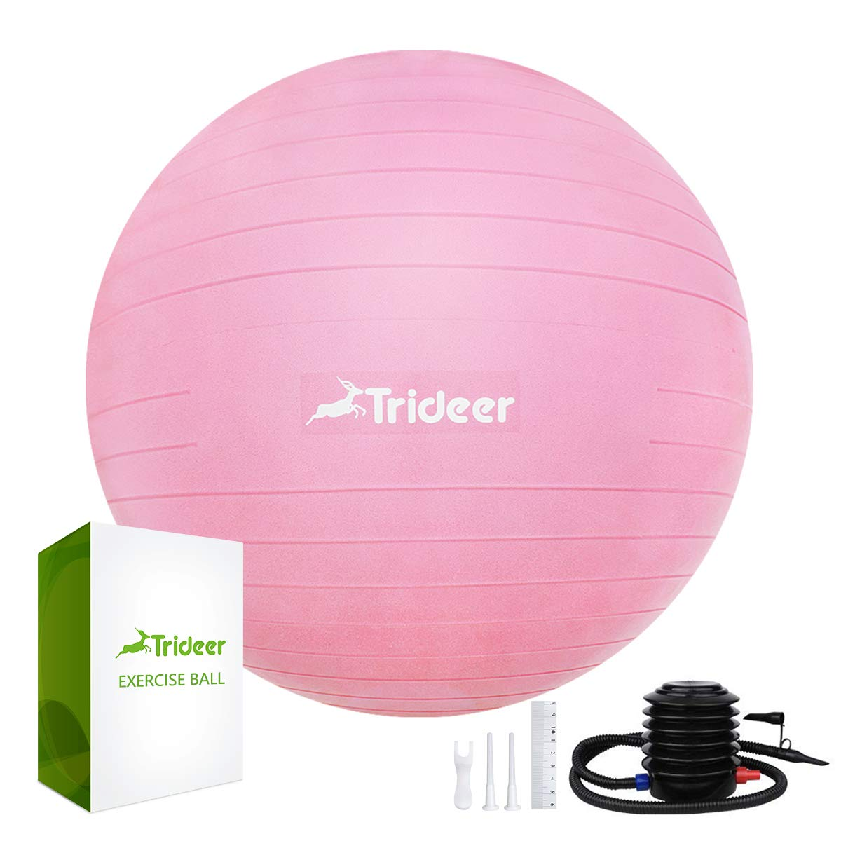 Trideer Hopper Ball Kids Exercise Ball Multi Function Jump Ball Bouncy Ball with Handles Kids Balance Ball and Ball Chair for Children Age 3 12 Air Pump Included