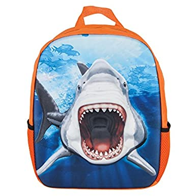 Amazon.com | Great White Shark Eva Molded 3D Backpack | Kids ...