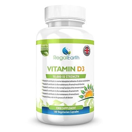 La vitamina D3 10000 UI de alta resistencia Cápsulas Suplementos vegetarianas para los hombres y de