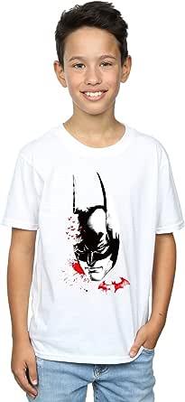DC Comics niños Batman Arkham Knight Bats Face Camiseta