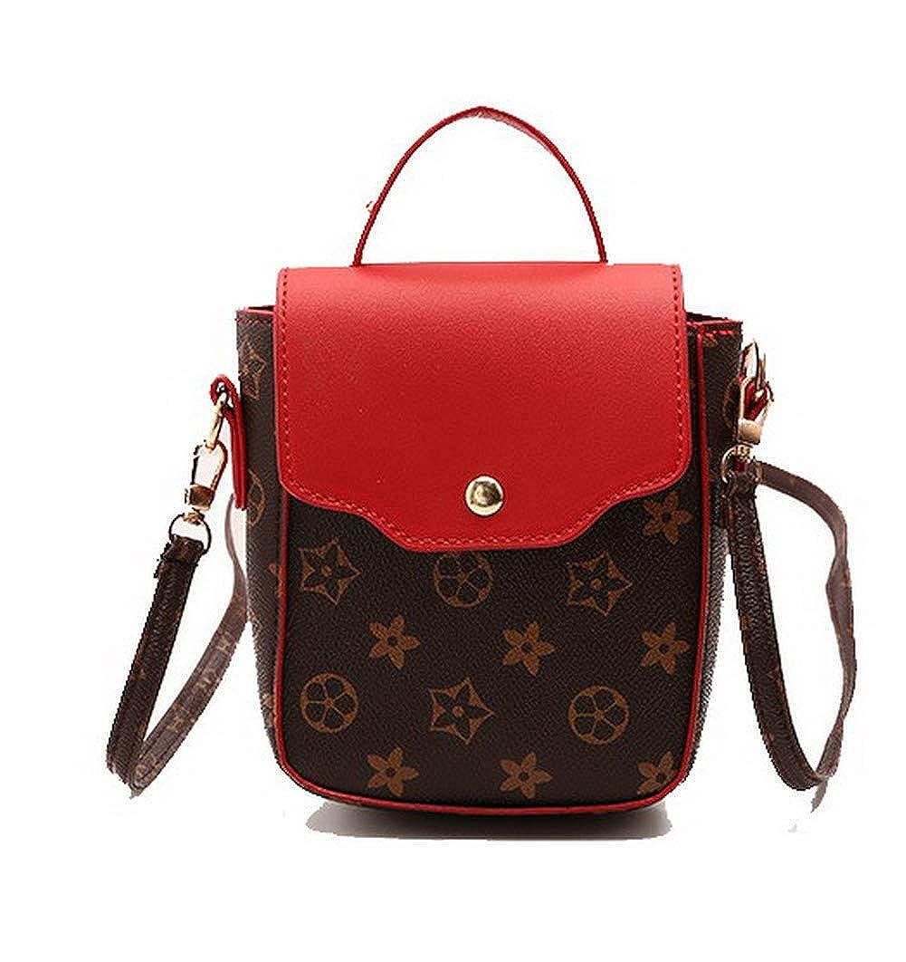 AmoonyFashion Womens Satchel-Style Dacron Casual Pu Crossbody Bags,BUTBS203287