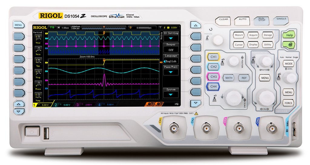 Rigol DS1054Z Digital Oscilloscope 50 Mhz DSO 4 Channels by Rigol