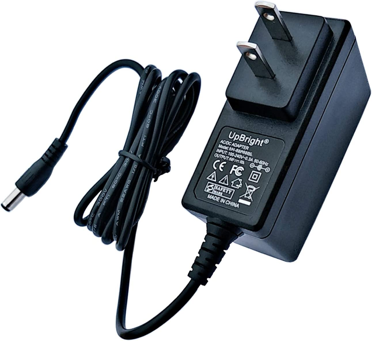 UpBright AC Adapter Compatible with Turbo Scrub 360 TS-MC6/3 TSDX-MO6 TSDX-M06 Cordless Floor Tile Scrubber TS MC 63 TSMC 6/3 DC 3.6V 1800mAh Battery RH-030 SW-059075A 5.9V 750mA Power Supply Charger