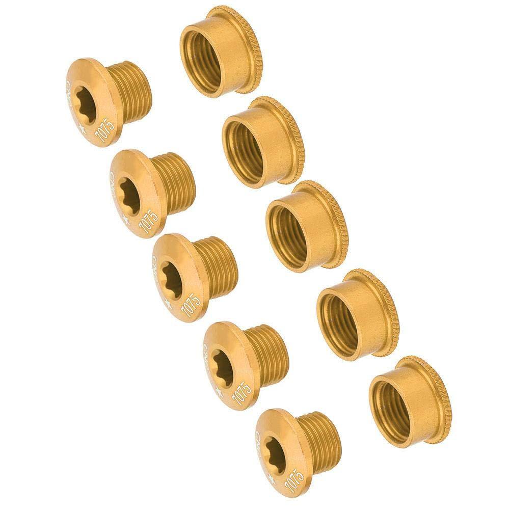 Yinhing V/élo Scre 5Pcs V/élo V/élo Plateau Vis De P/édalier Boulon pour Simple Double Triple Vitesse
