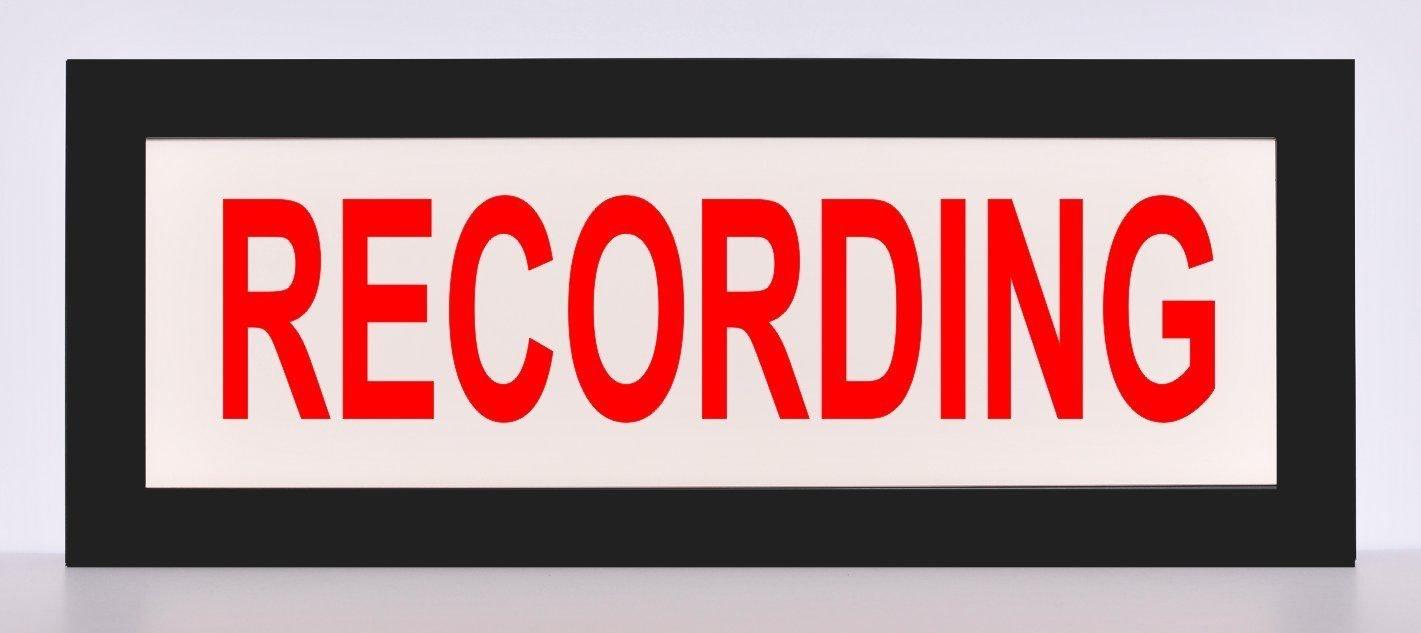 Recording Studio LED Illuminated Sign - Nostalgic Light Box w/remote