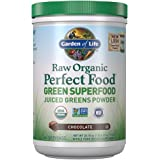 Garden of Life Raw Organic Perfect Food Green Superfood Juiced Greens Powder - Chocolate, 60 Servings, Non-GMO, Gluten…