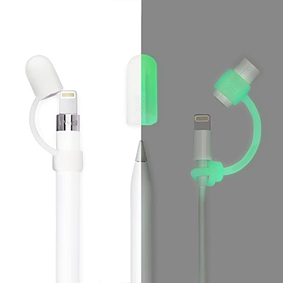 7001427a98945e PencilCozy for Apple Pencil Cap, Protective Cover & Lightning Cable Adapter  Holder, Prevent Damage