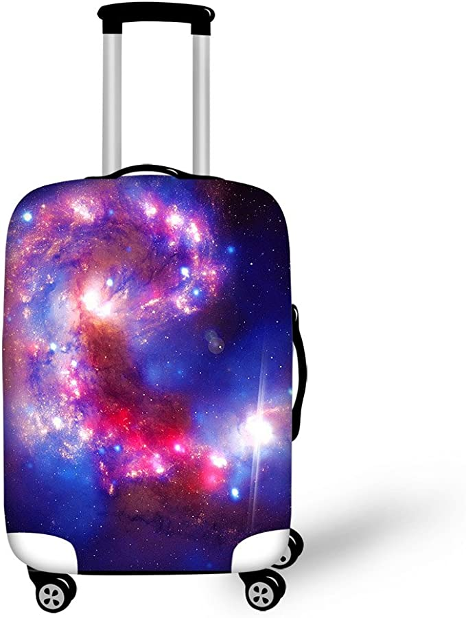 God-zilla 2019 Elastic Travel Luggage Cover,Double Print Fashion Washable Suitcase Protective Cover Fit For 18-32 Inch Luggage
