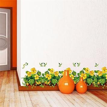 ZóCalo Amarillo Del Pasillo Del Pasillo De Daisy Dormitorio De La Puerta Corredera De Cristal Del Gabinete Del Porche De La Cintura Etiqueta De La Pared De La Cabecera 50 X 70Cm:
