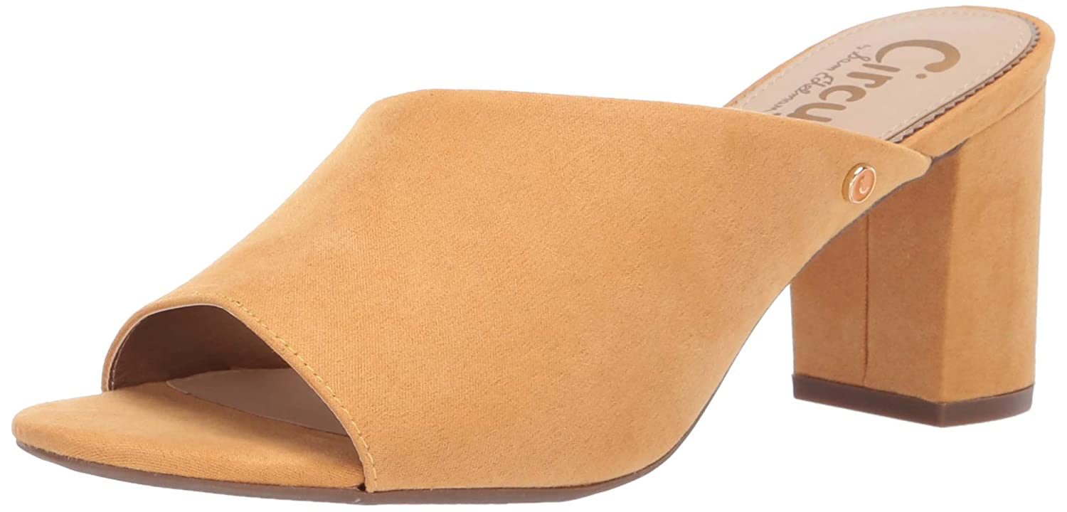 Sunglow Yellow Microsuede Circus by Sam Edelman Womens Suzanna Heeled Sandal