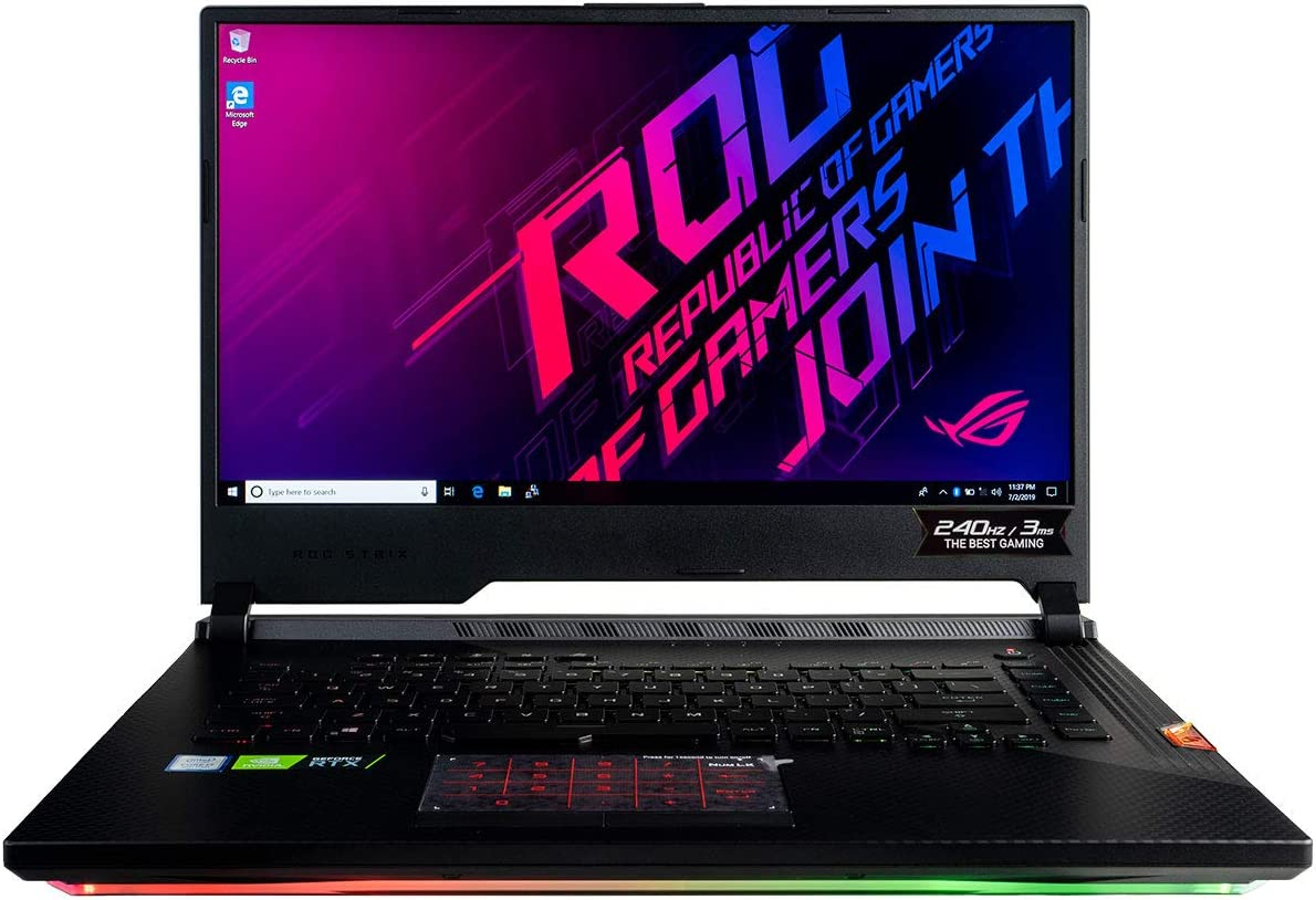 "CUK ASUS ROG Strix Scar III G531GW Gaming Laptop (Intel i7-9750H, 32GB RAM, 1TB NVMe SSD + 1TB HDD, NVIDIA GeForce RTX 2070 8GB, 15.6"" Full HD IPS 240Hz 3ms, Windows 10 Home) Gamer Notebook Computer"