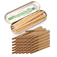 Pre-Rolled Cones 1 1/4 Size Organic Cigarette Rolling Papers with Tips (32 Pre Rolled Cones)