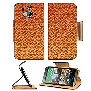 Abstract Orange Textures Scales Photo HTC One M8 Flip Case Stand Magnetic Cover Open Ports Customized Made to Order Support Ready Premium Deluxe Pu Leather 6 4/16 Inch (158mm) X 3 4/16 Inch (82mm) X 9/16 Inch (14mm) MSD HTC1 cover Professional M 8 Cases M wangjiang maoyi