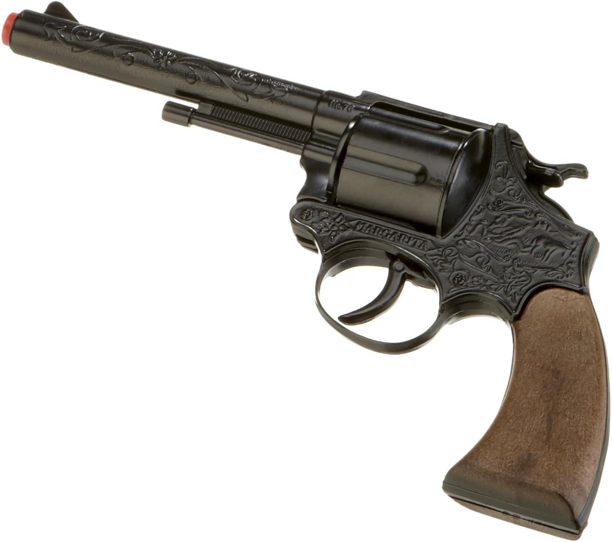 Gonher 76/6-12-disparo de revólver Margarita 23 cm, negro