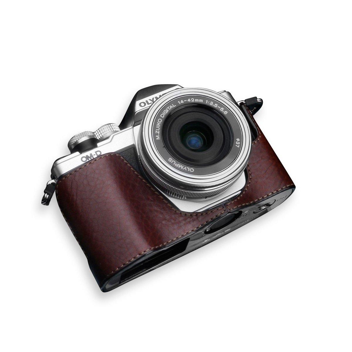 GARIZ OLYMPUS OM-D E-M10 Mark2用 本革カメラケース XS-CHEM10IIBR ブラウン B01D4MZZZ0 ブラウン