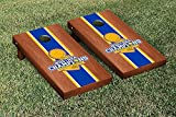 NBA Golden State Warriors 2015 NBA Champions Rosewood Stained Stripe Version Cornhole Set
