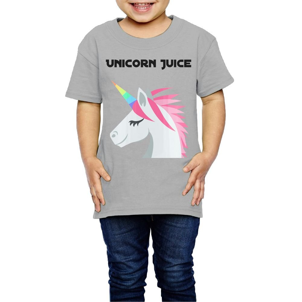 Yishuo Kids Unicorn Juice Coffee Mug Humor Outdoor T Shirt Short Sleeve Gray 3 Toddler