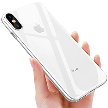 UBEGOOD Funda iPhone XS, Funda iPhone X, Carcasa iPhone XS Slim Soft Silicone TPU Caso iPhone X Case Cover Shock-Absorción Anti-Arañazos Espalda ...